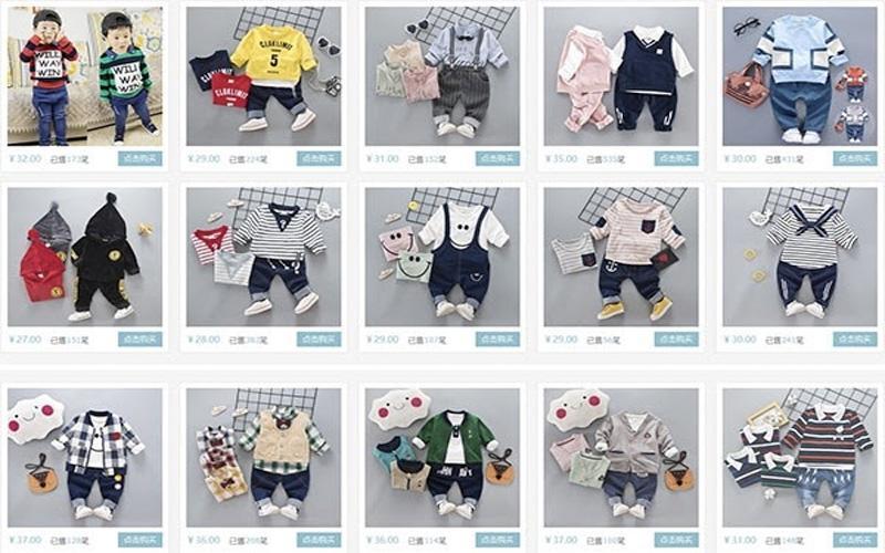 Nguồn hàng quần áo trẻ em Quảng Châu có mặt khắp các trang thương mại điện tử Taobao, 1688, Tmall